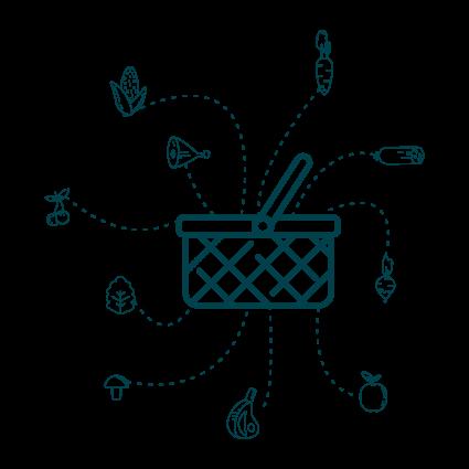 Logo Panier de courses Épicerie Papilles